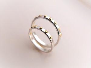 スタッズ シルバーペアリング*studs pair ring silver 単品販売可能