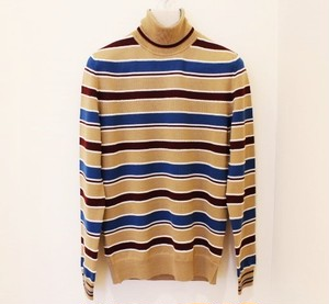 +39masq Multi Border Turtle Neck Knit