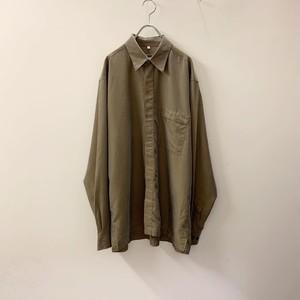 ANGELO LITRICO 光沢ブラウン ビスコース/ポリエステル シャツ size L メンズ 古着