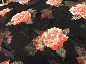 受注商品【キモノ】レイヤード薔薇キモノ BLACK  2月末~3月初頃納品予定