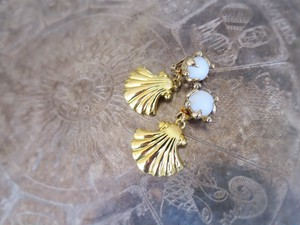 vintage 2way earrings shell L <ER-CLSLL>