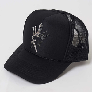 Crown&sword Swarovski Cap【black】