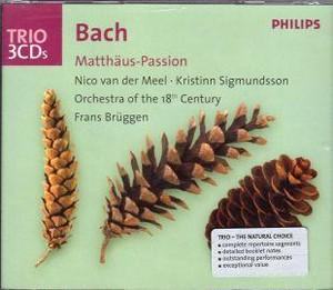 [中古CD] バッハ:マタイ受難曲 ブリュッヘン/18世紀オーケストラ& オランダ室内合唱団他