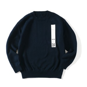 crepuscule FOR SO NAKAMEGURO TENJIKU LONG SLEEVE KNIT(NAVY)