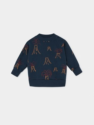 【19AW】ボボショセス(BOBO CHOSES) -ALL OVER VOLCANO SWEATSHIRT[12-18m/18-24m]スウェット