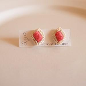 New cotton drop 12 ❘  aya 刺繍 ピアス
