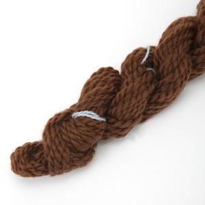 コリデールこげ茶 ゲージ用糸サンプル (corri17)手紡ぎ毛糸オーダー