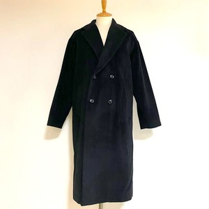 Wool Mosser Loose Double Chester Coat Black