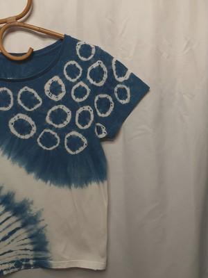 藍染めTシャツ④(レディースサイズ)