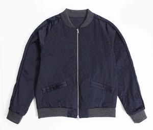 Souvenir Jacket -Navy / Polka Dots