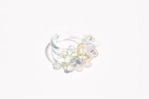 Glass beads リング パステルカラー