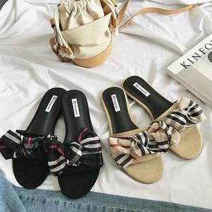 【お取り寄せ商品】☆check flat sandals 6373