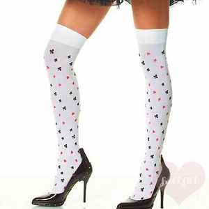 Leg Avenue Opaque Poker Card Suits Stockings トランプ柄ニーハイ