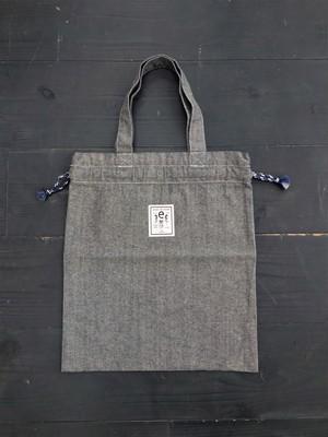 巾着トートバッグ gray(e-403)