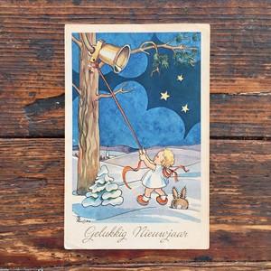 Antique christmas postcard 1946's