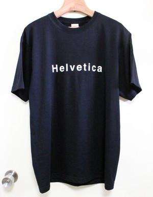 Helvetica ヘルベチカ フォント Tシャツ ブラック
