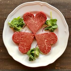 バレンタイン限定ハート型和牛ステーキ(モモ/120g相当)