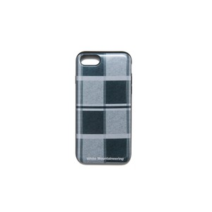 iPhone 7&8 case【LARGE CHECK】- GRAY