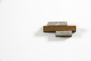 bocco (エンジュ)  ■札幌軟石  ブローチ