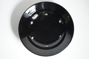 大園篤志 スープ皿 / 鉄黒