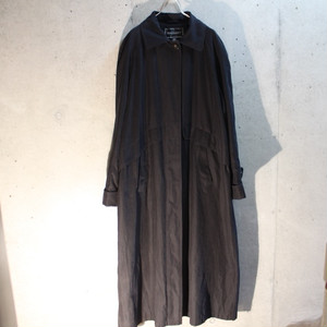Black Poly Soutien Collar Coat