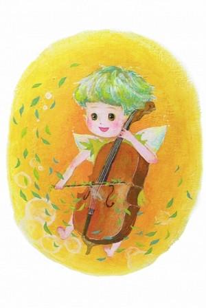 PCS011 「チェロを弾く妖精」ポストカード12枚セット