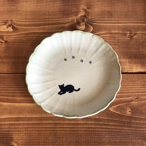 北村陶房 輪花皿(ネコ・スタンダード)