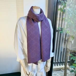 ころもスカーフ 菱形抽象草模様 地模様 紫