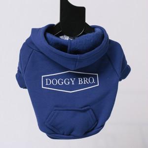 DOGGYBRO.(ドギーブロ) ロゴジップパーカー【ブルーS〜XLサイズ】