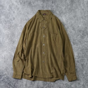 1960's  USA   Old  Stripe  Shirts   M A297