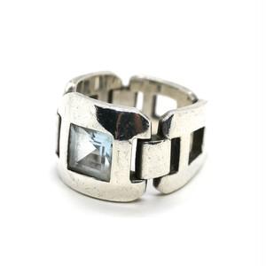 Hermès Vintage Sterling Silver Stone Ring