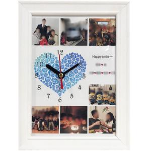 【受注制作】2L/7カット/オーダーメイド/フォト時計/フォトフレーム/ギフト/お祝い/記念日/誕生日/ウェディング/写真で作る/結婚祝い/結婚記念日/誕生日プレゼント/思い出時計/贈り物