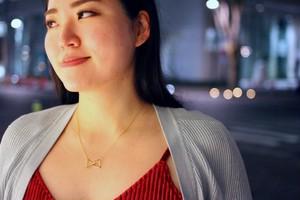 Himmeli Double Tetrahedron - Necklace (Gold color)