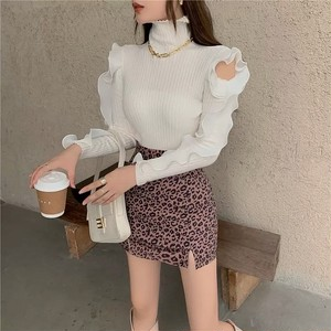 sleeve frill design tops 2color