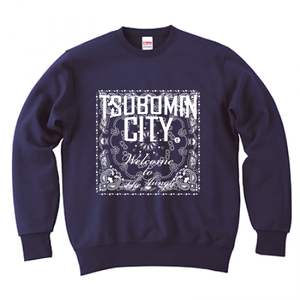 TSUBOMIN / BANDANA TSUBOMIN CITY CREWNECK SWEAT NAVY