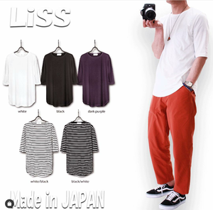 Liss 《Long length CREWNeck cut&sewn 》5色★日本製★