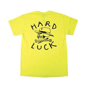 HARD LUCK - OG LOGO TEE (Safety Green)