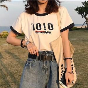 【トップス】半袖アルファベット簡約カジュアルTシャツ19017981