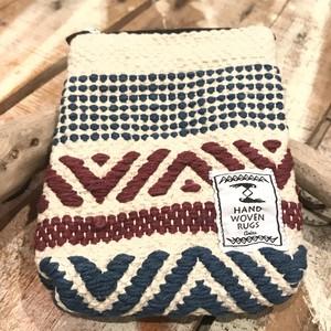 手織りミニポーチ〈ホワイト〉