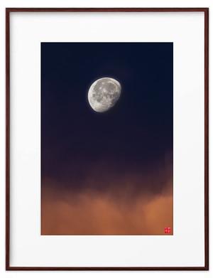 朝焼けの月(ホワイトボード)A3サイズ