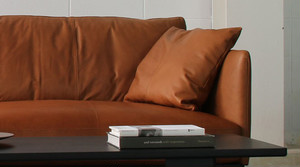 dual sofa 1P(leather) - Walnut