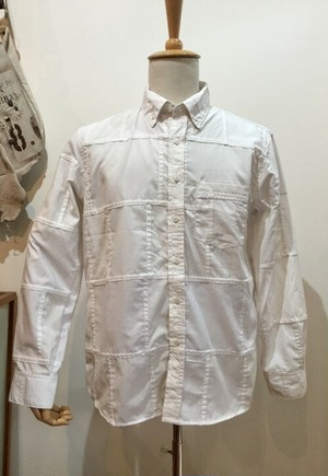 Nasngwam=ナスングワム『SKELTER SHIRTS』 #WHITE  #SizeM