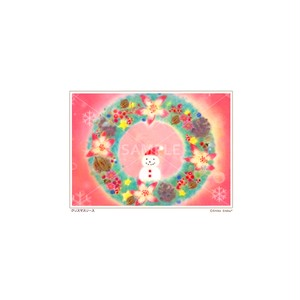 【選べるポストカード3枚セット】No.136 クリスマスリース