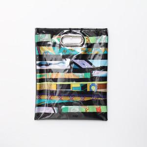 【一点もの】No.313  スカーフで作ったPVCクラッチバッグ