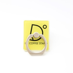 I'm coffee stand Mobile Ring ロゴ(イエロー)