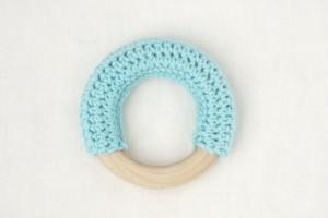 【コットンリング】ブルー | おしゃれな歯固めジュエリー linolino - 町田で ワークショップも開催中