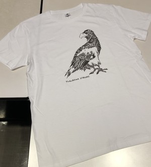 イーグルTシャツ【ホワイト×ブラウン】