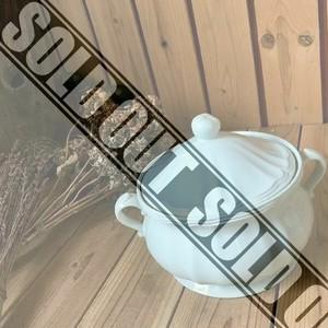 ≫スープチューリン陶器蓋付シチューポット鍋スープポット洋食器スープボウル*果物フルーツ*レトロヴィンテージアンティークカフェキッチン