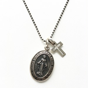 amp japan/Silver Maria Locket with Silver Cross