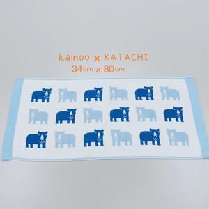【送料無料】今治タオル KATACHI 新柄 くま ガーゼフェイスタオル 34×80cm